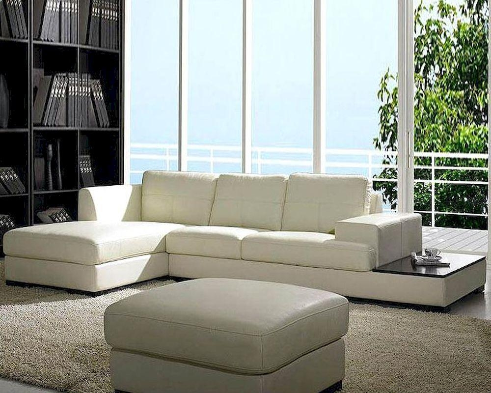 Contemporary Low Profile Leather Sectional Sofa Set 44Lbo3893 Pertaining To Low Sectional (Image 2 of 20)