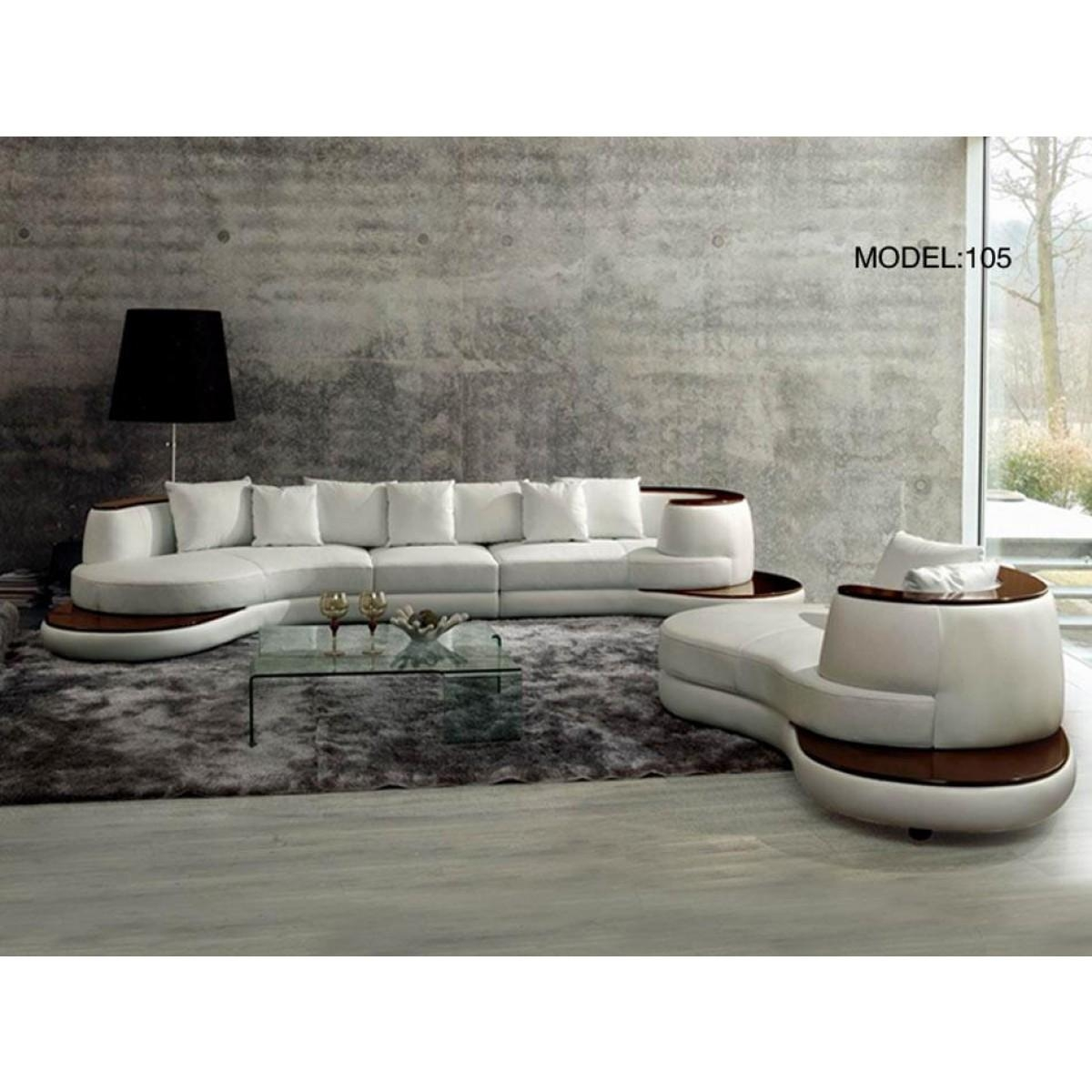 Contemporary & Luxury Furniture; Living Room, Bedroom,la Furniture Intended For Rounded Sofa (Image 2 of 20)