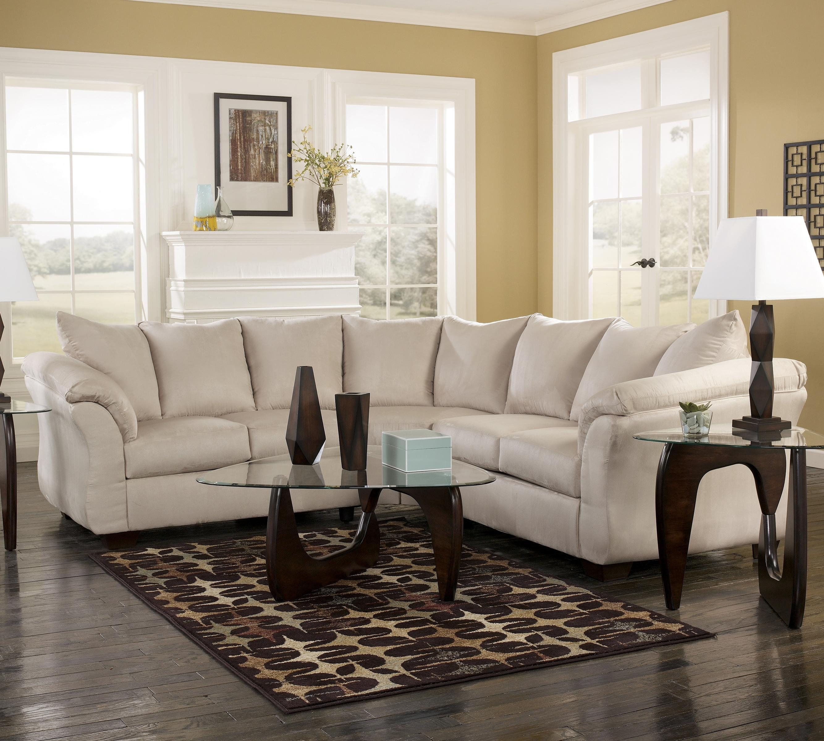 Contemporary Sectional Sofa With Sweeping Pillow Armssignature Within Signature Design Sectional Sofas (View 8 of 20)
