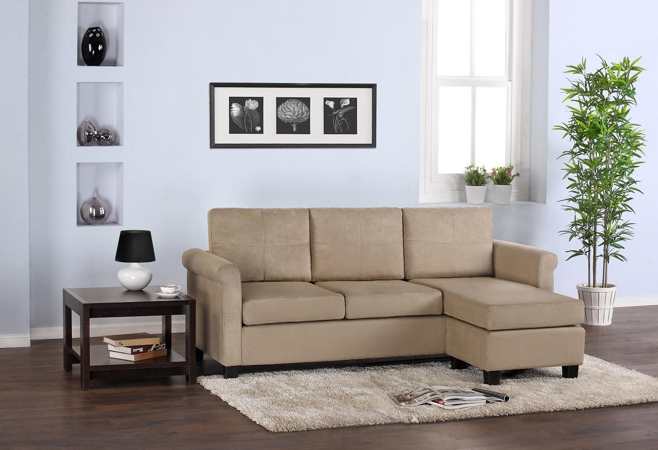 Contemporary Sectional Sofas For Small Spaces Charming Small Scale Pertaining To Small Scale Sofas (Image 1 of 20)