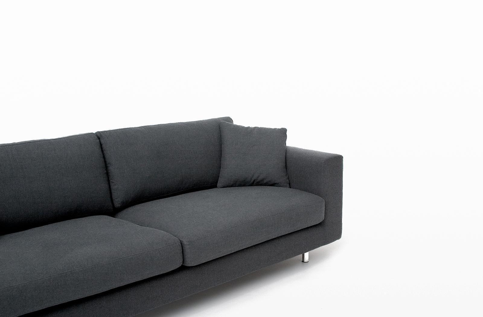 Contemporary Sofa / Fabric / 2 Seater / Black – Wide Arm – Bensen Throughout Bensen Sofas (Image 5 of 20)