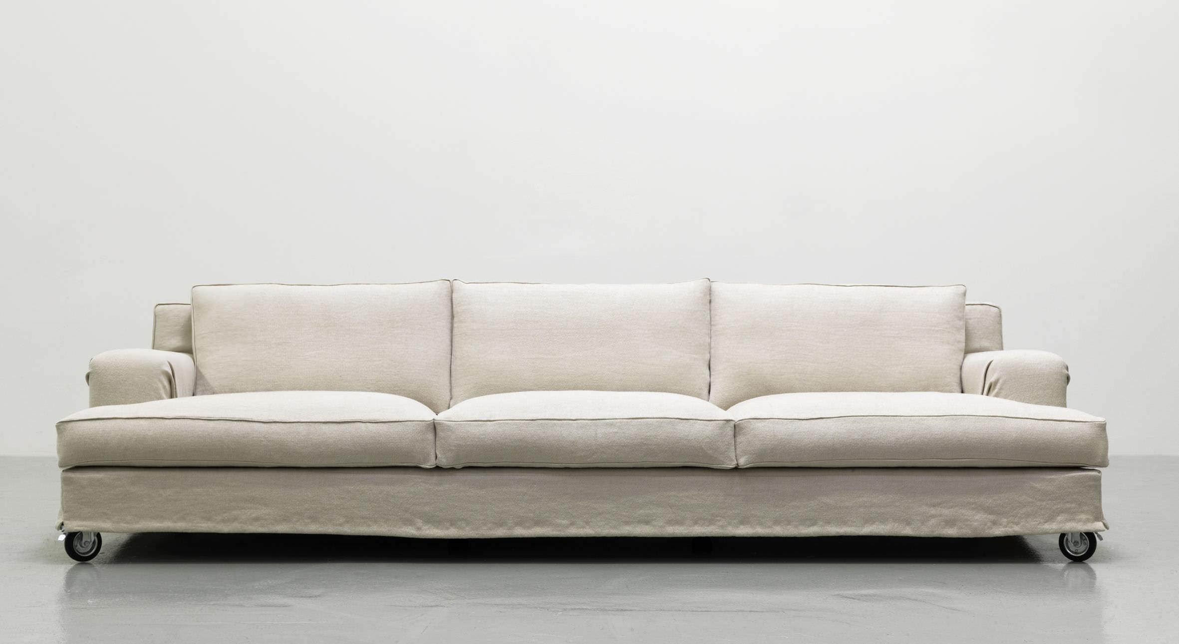 Contemporary Sofa / Fabric / 3 Seater / On Casters – Aberdeen Intended For Casters Sofas (View 8 of 20)