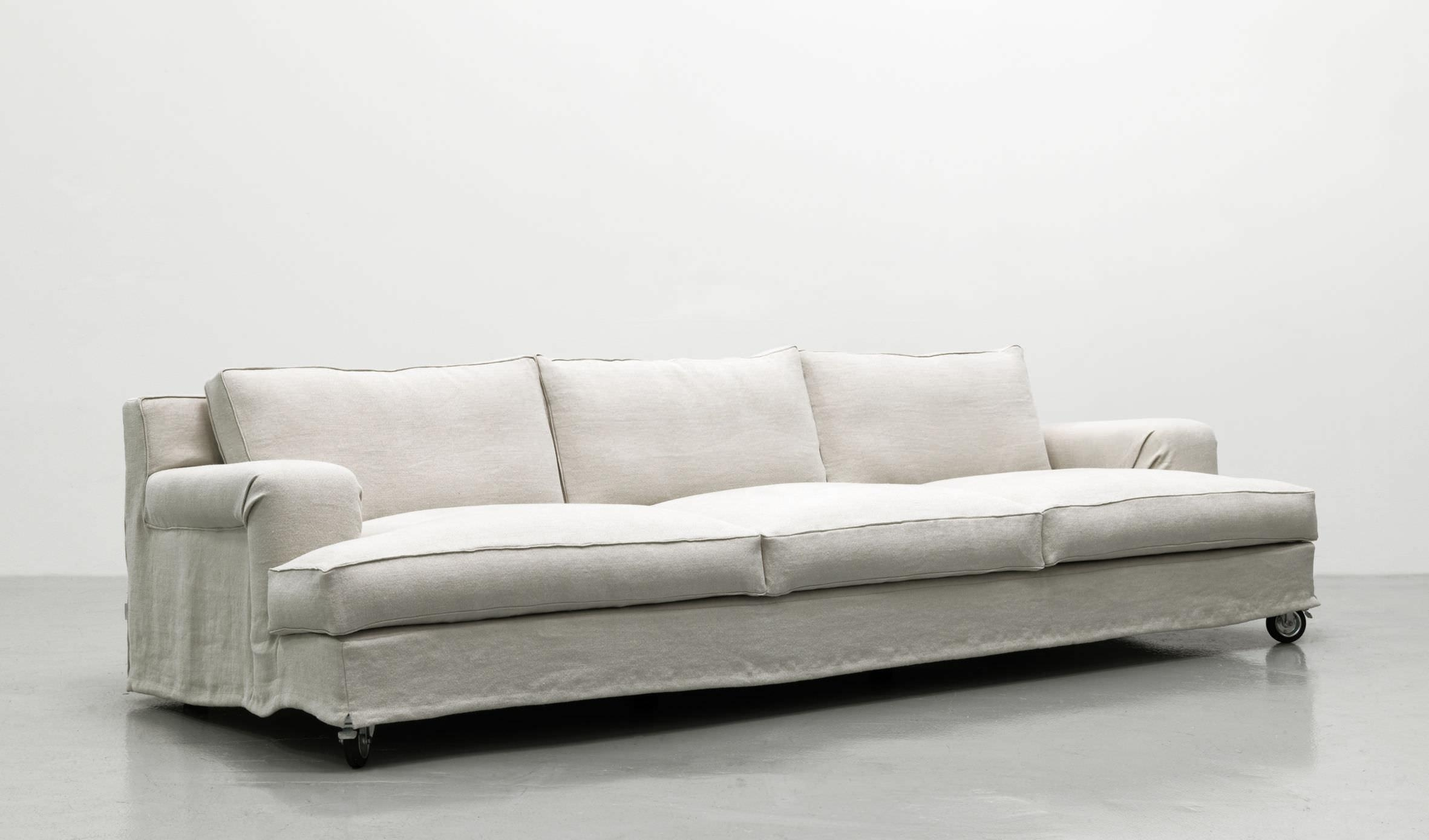 Contemporary Sofa / Fabric / 3 Seater / On Casters – Aberdeen Within Casters Sofas (View 12 of 20)