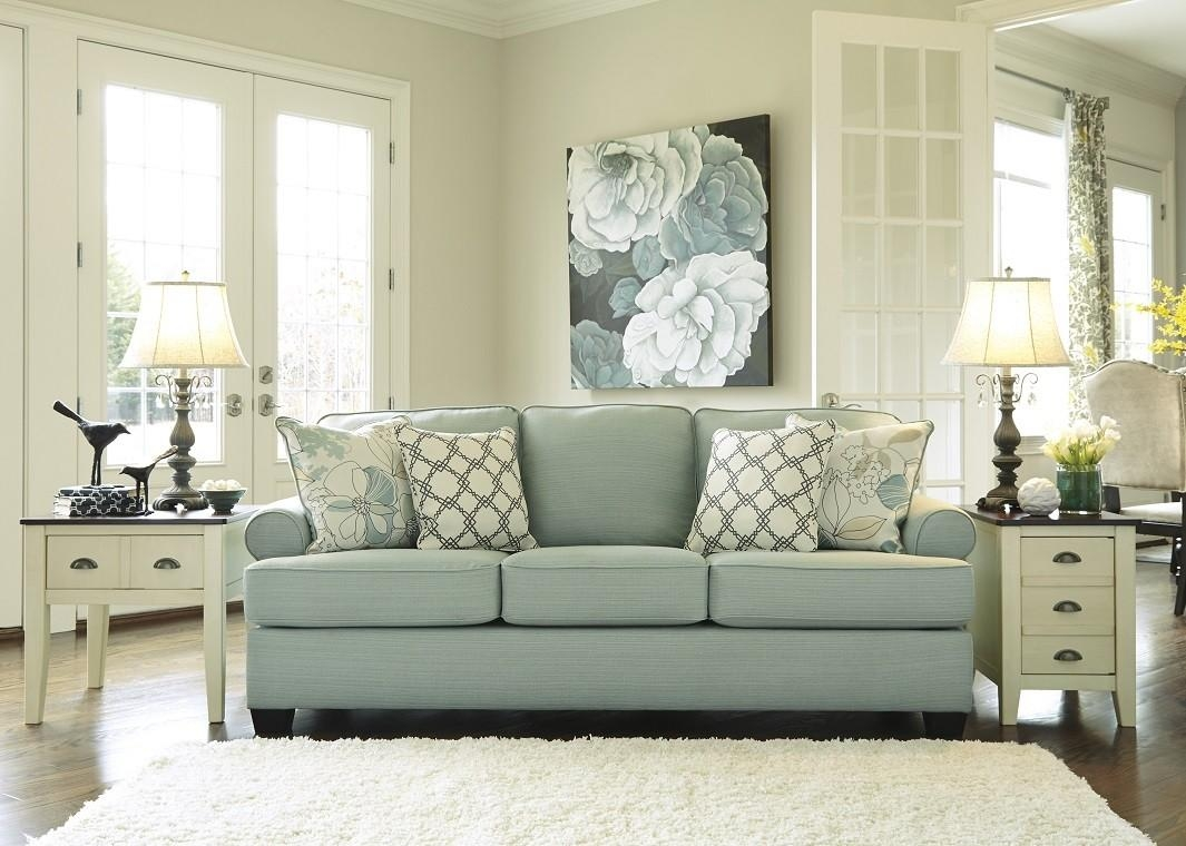 Contemporary Sofa In Seafoam With Regard To Seafoam Green Sofas (Image 4 of 20)
