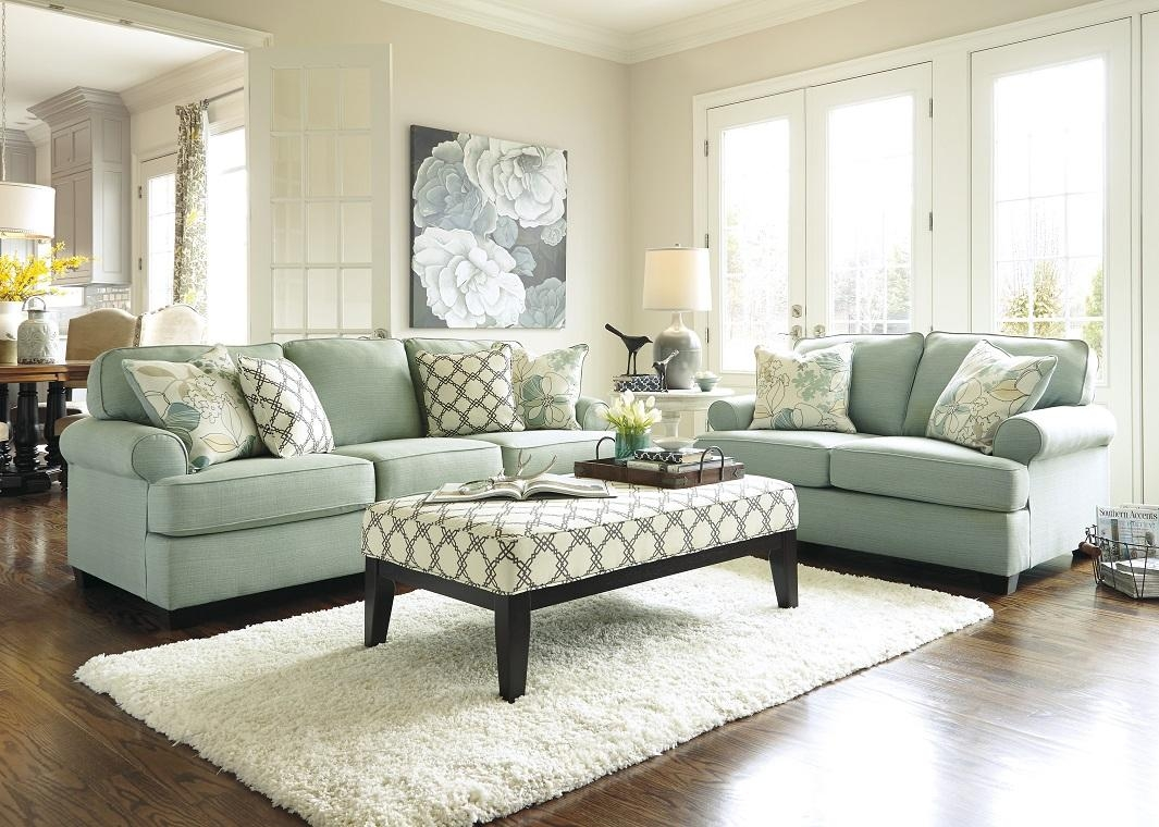 Contemporary Sofa In Seafoam With Regard To Seafoam Sofas (Image 4 of 20)