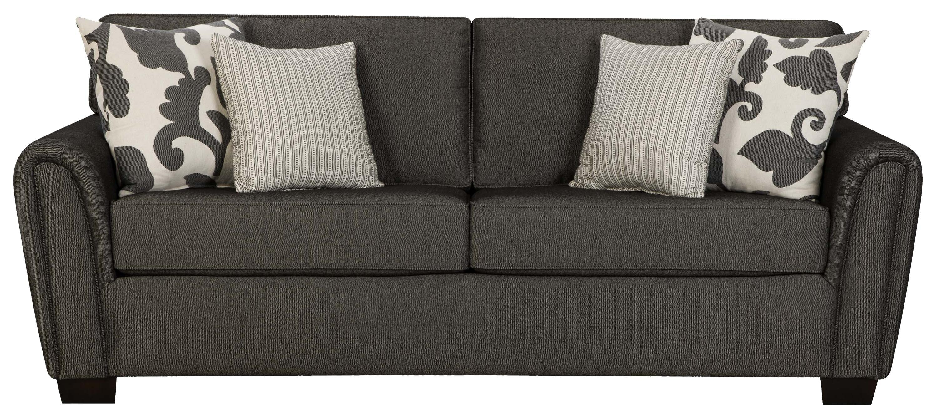 Contemporary Stationary Sofa With Tapered Roll Armscorinthian With Regard To Corinthian Sofas (Image 4 of 20)
