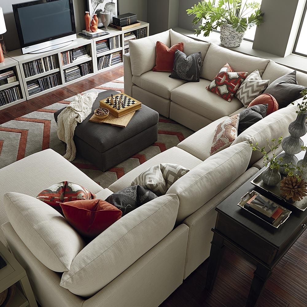 Contemporary U Shaped Sectional | Bassett Home Furnishings Pertaining To U Shaped Reclining Sectional (Image 2 of 20)