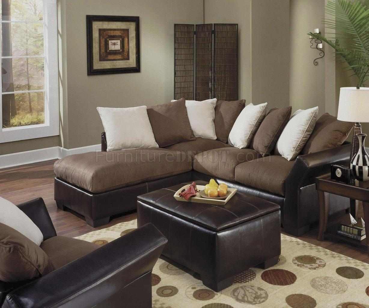 20 best collection of leather and suede sectional sofa for Suede sectional