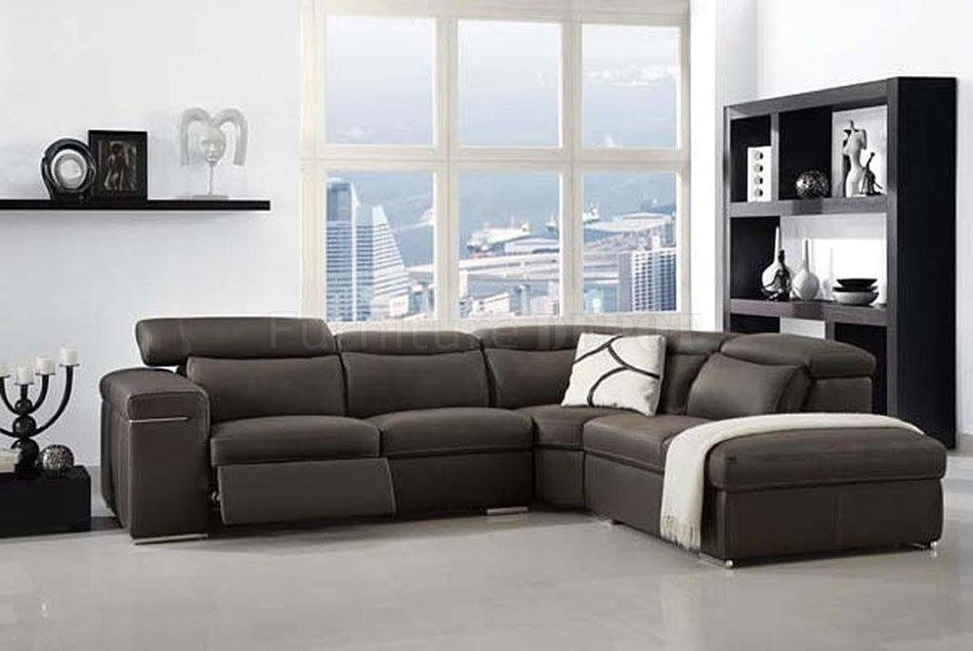 Contemporary White Italian Leather Sectional Sofa – S3Net For Italian Leather Sectionals Contemporary (Image 3 of 20)