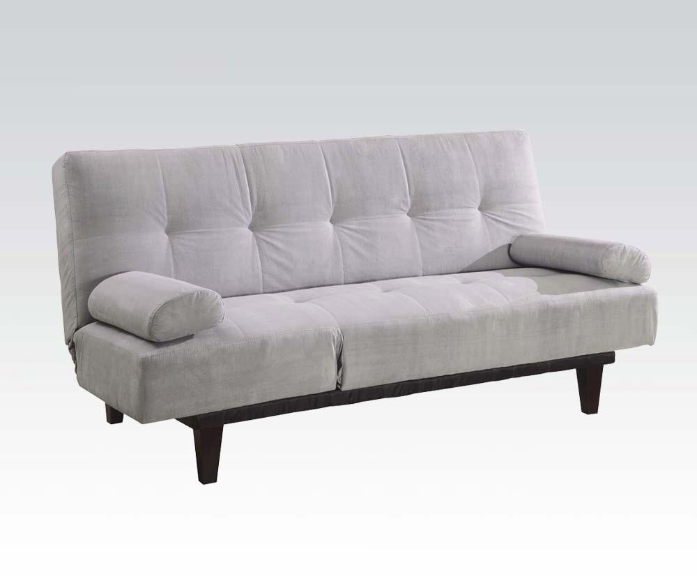 Convertible Futon Sofa Bed And Lounger – La Musee In Convertible Futon Sofa Beds (Image 9 of 20)