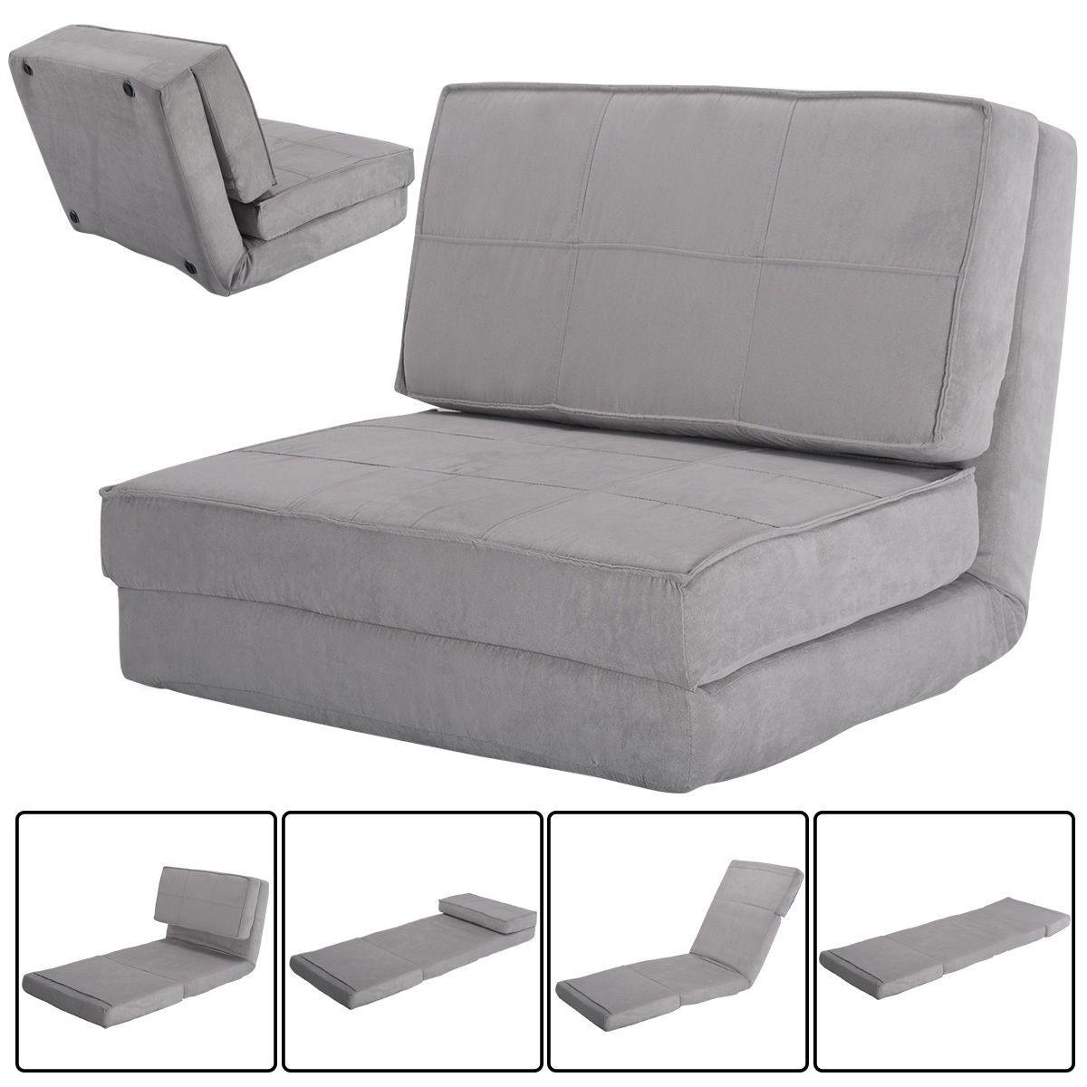 Convertible Lounger Folding Sofa Sleeper Bed – Sofas – Furniture For Folding Sofa Chairs (View 10 of 20)