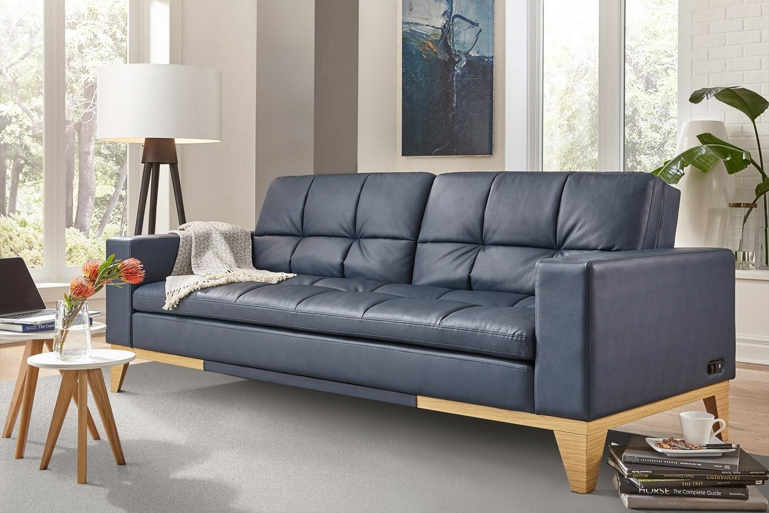 Convertible Sofa Bed | Relaxalounger Futon | The Futon Shop With Bonded Leather Sofas (Image 11 of 20)