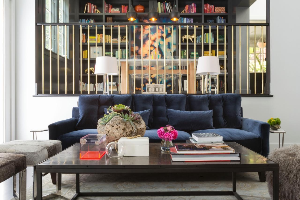 Cool Down Your Design With Blue Velvet Furniture | Hgtv's With Regard To Living Room With Blue Sofas (Image 14 of 20)