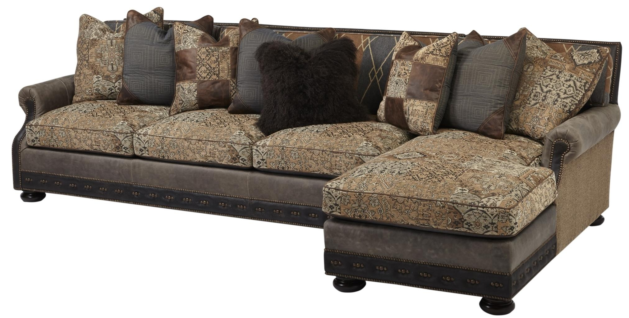 Cool Sofa With Chaise Lounge. High End Furnishings (Image 5 of 20)