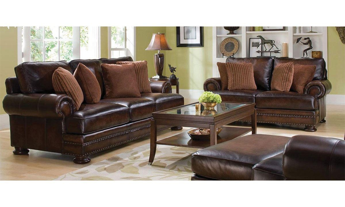 Corbin 100% Leather & Feather Sofa – 92 Inch | The Dump Regarding Brown Leather Sofas With Nailhead Trim (Image 6 of 20)