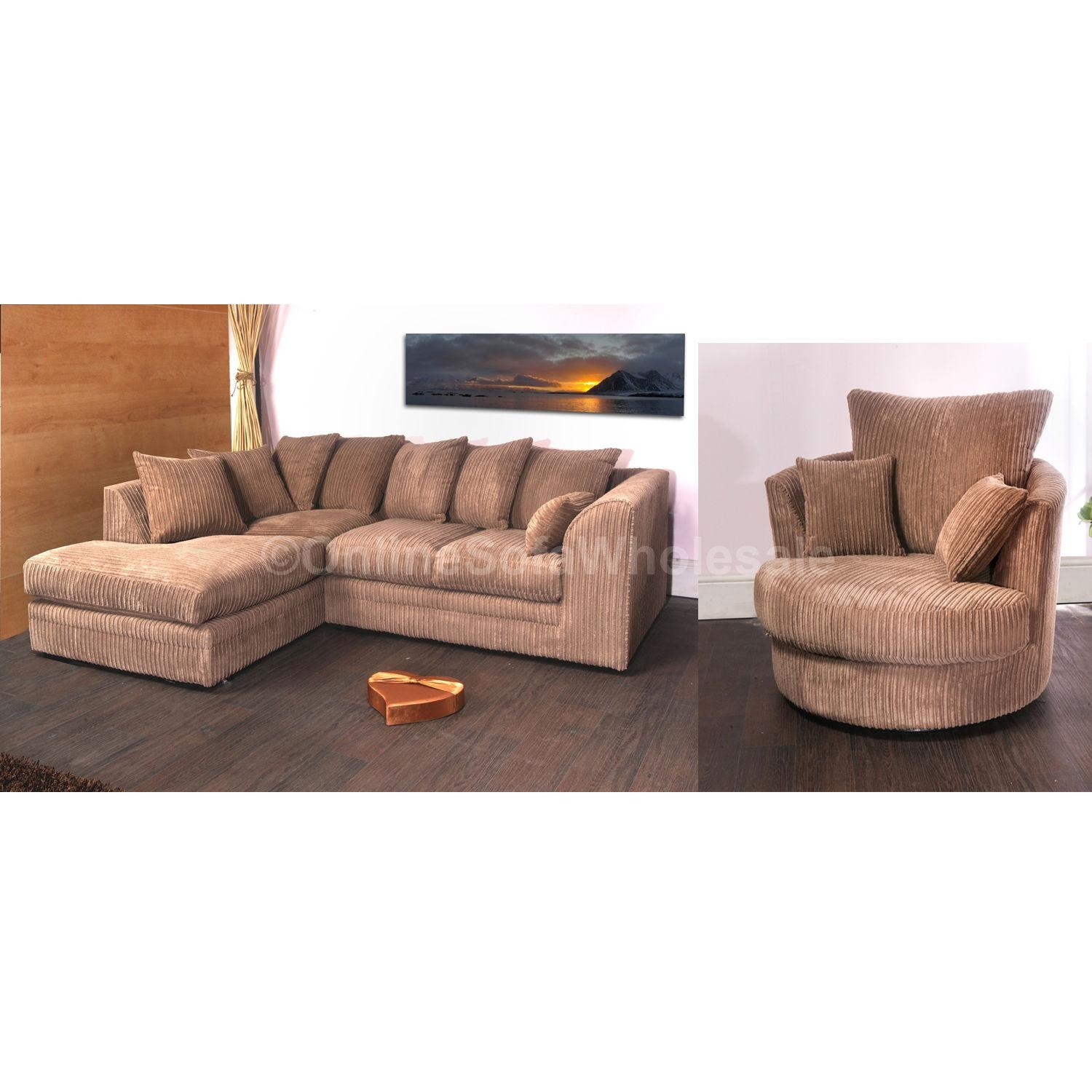 Cord Corner Sofa And Swivel Chair | Get Furnitures For Home Within Corner Sofa And Swivel Chairs (Image 5 of 20)