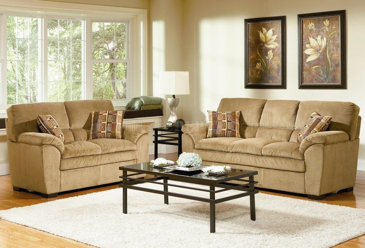 Corduroy Fabric Casual Living Room 502421 Camel Pertaining To Camel Color Sofas (View 2 of 20)