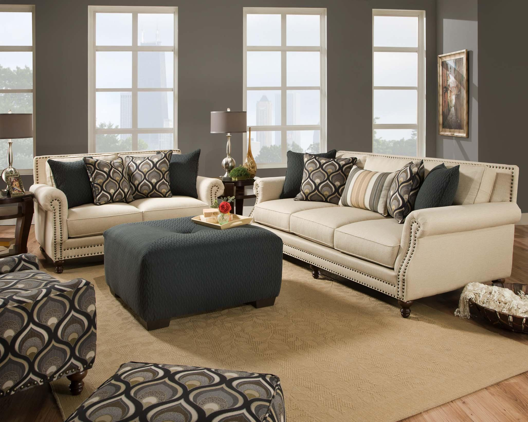 Corinthian 84A0 Oatfield Ottoman – Great American Home Store – Ottoman With Corinthian Sofas (Image 7 of 20)