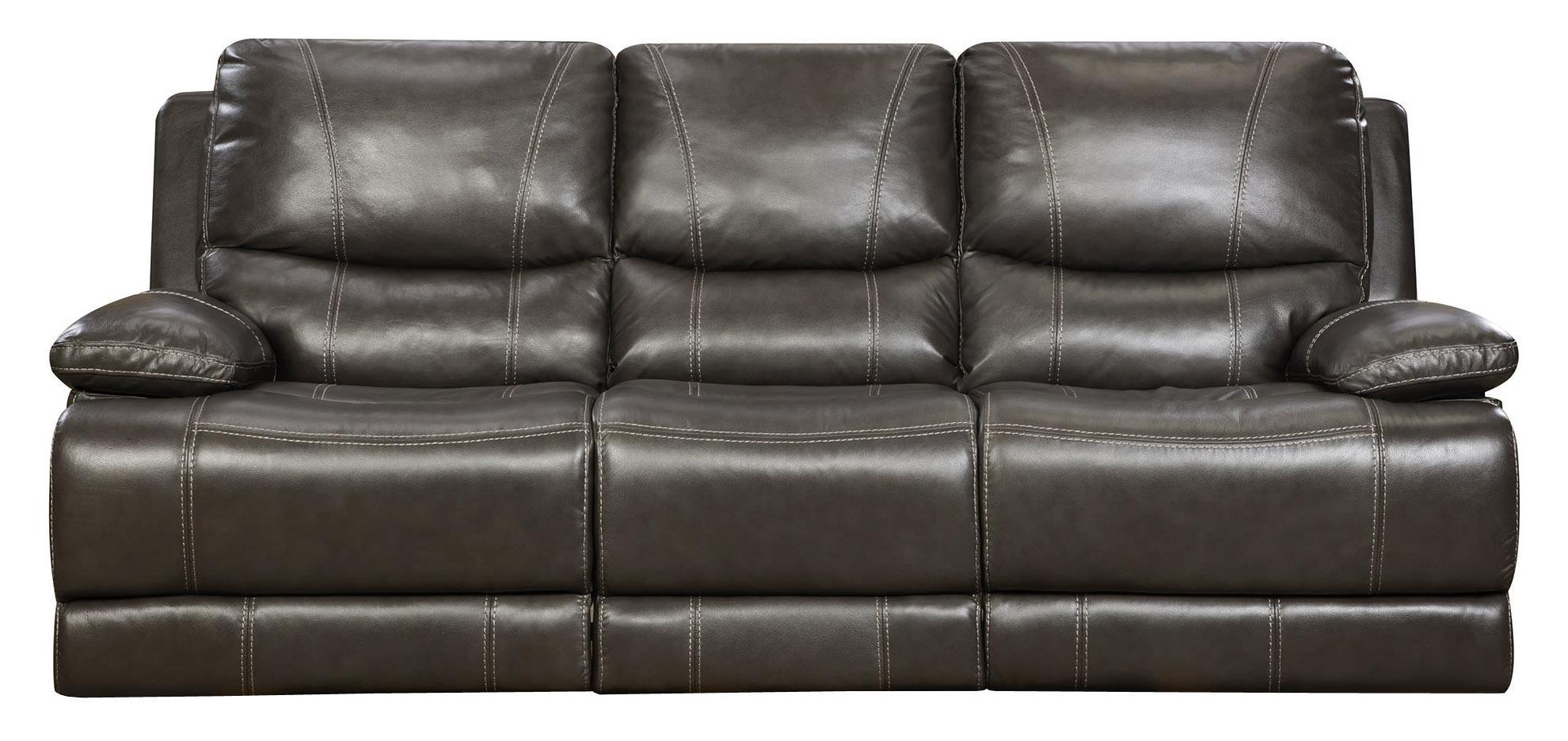 Corinthian Brooklyn Charcoal Brooklyn Charcoal Leather Reclining Regarding Corinthian Sofas (Image 8 of 20)