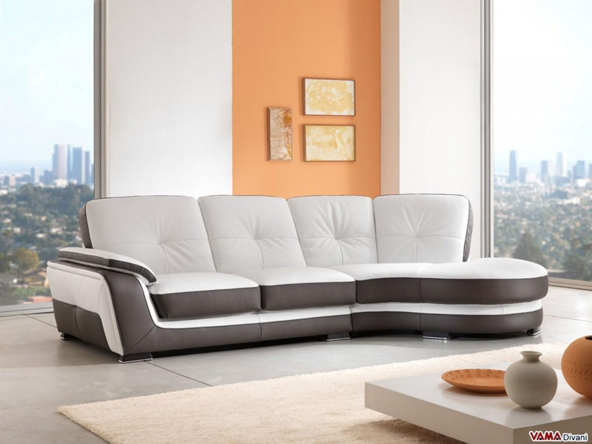 Corner Semicircular Chaise Sofa In Genuine Leather Pertaining To Semicircular Sofa (Image 3 of 20)