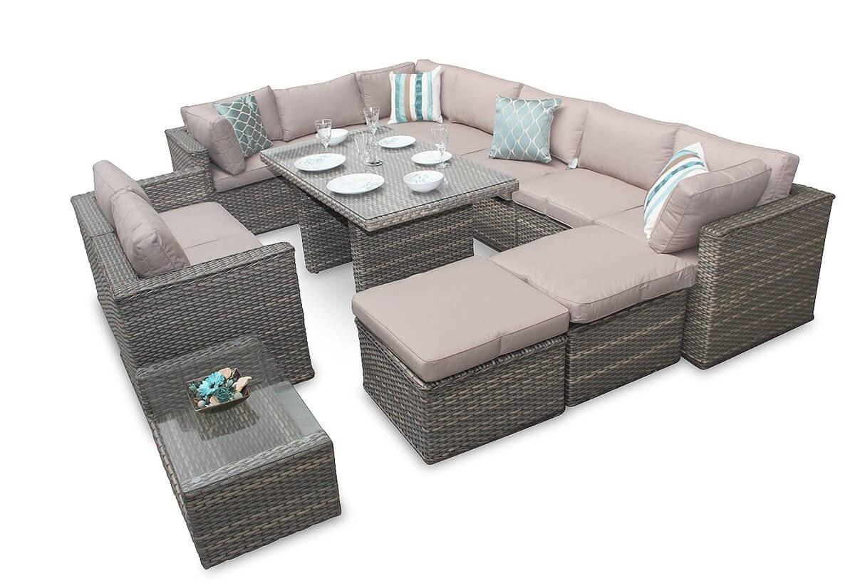Corner Sofa Garden Furniture Manchester 7Pc Natural Daybed Set With Manchester Sofas (Image 4 of