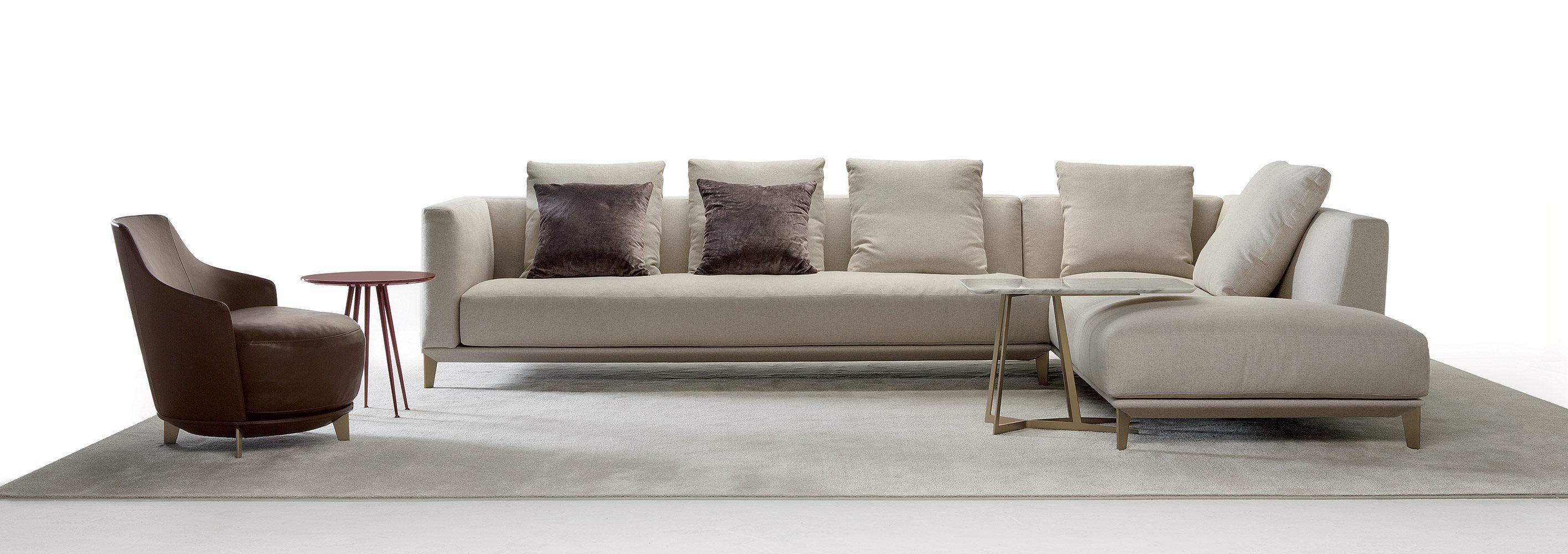 Corner Sofa / Modular / Contemporary / Fabric – Dylancastello Throughout Contemporary Fabric Sofas (Image 8 of 20)