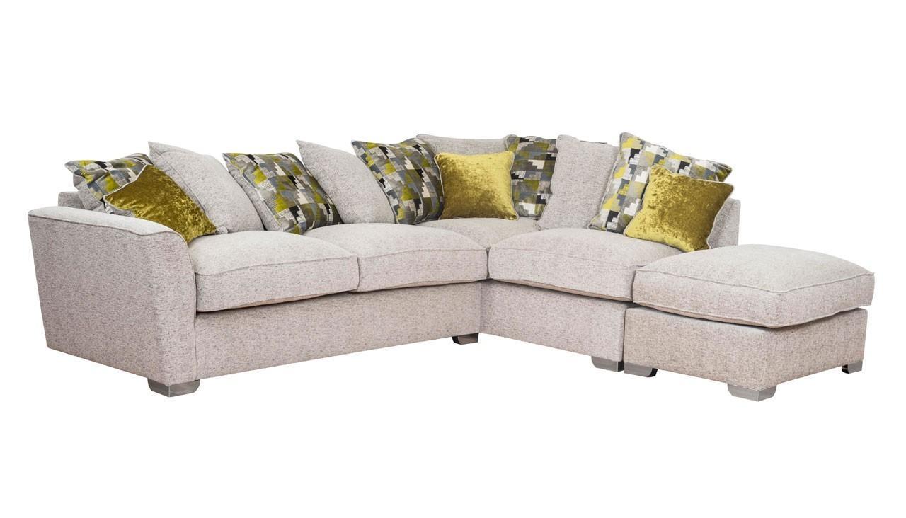 Corner Sofa With Scatter Back Rhf | Hepburn Range | Ahf For Corner Sofas (Image 5 of 20)