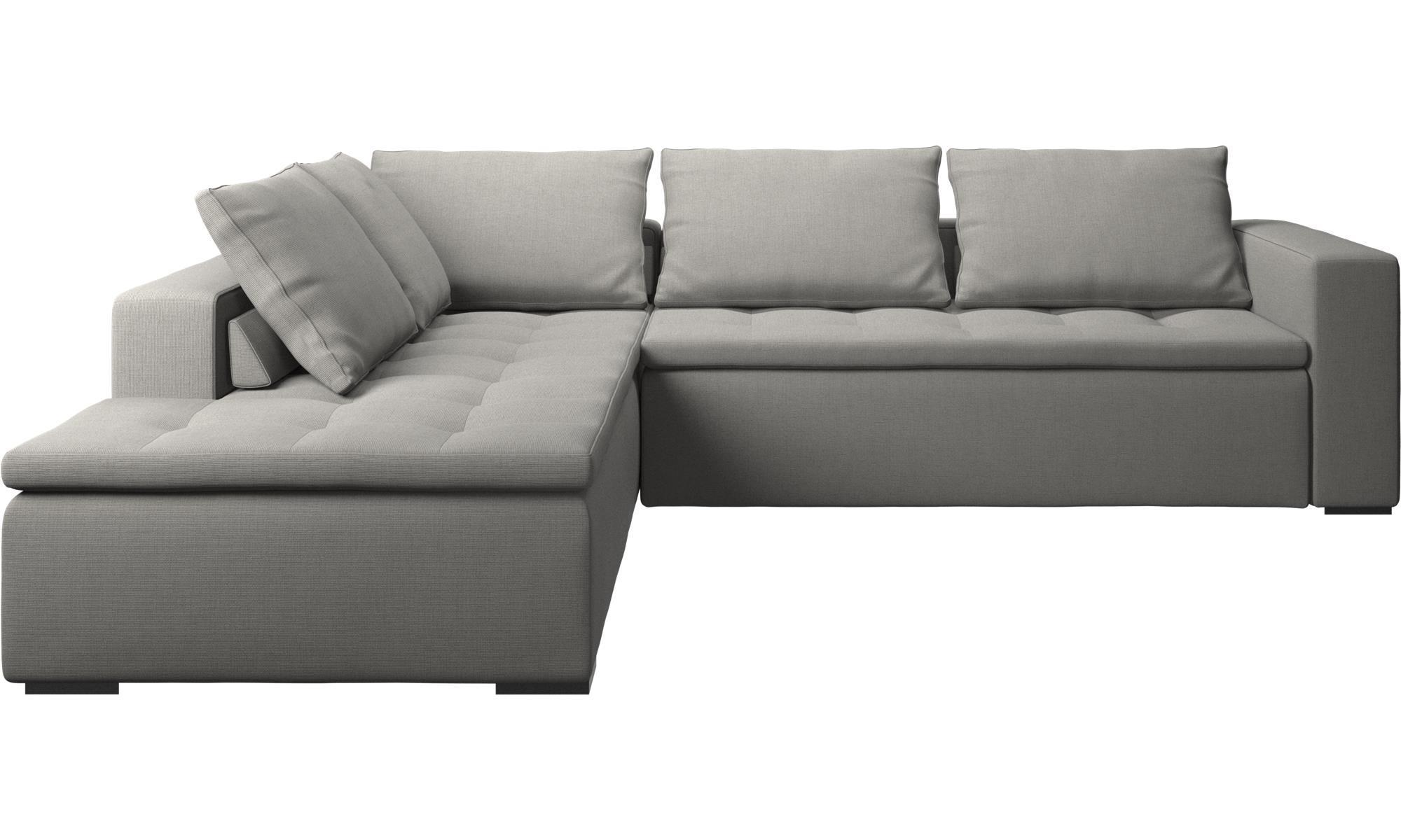 Corner Sofas – Mezzo Corner Sofa With Lounging Unit – Boconcept Inside Black Corner Sofas (View 14 of 20)