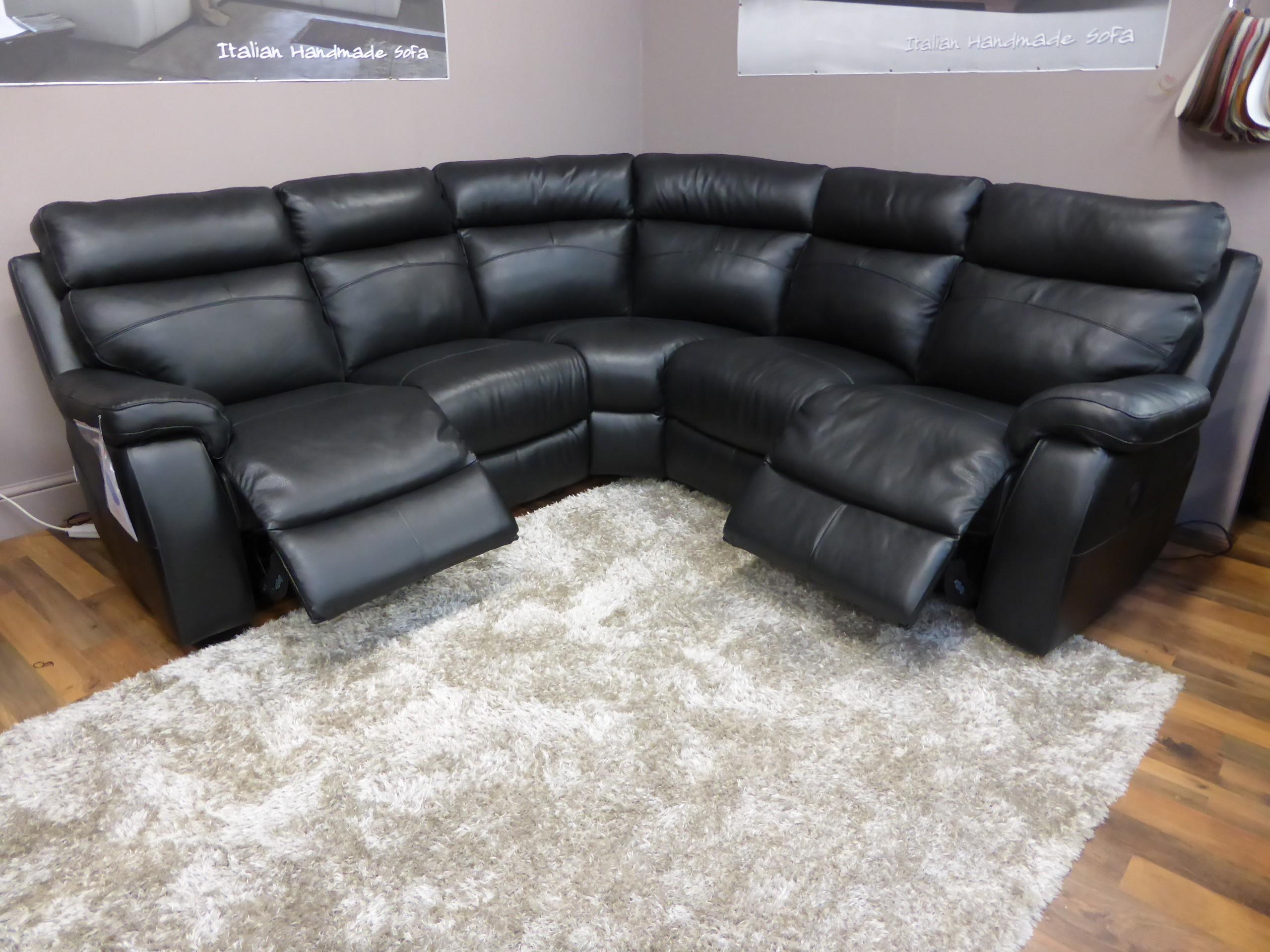 Corner Sofas With Recliners | Tehranmix Decoration Pertaining To Black Leather Corner Sofas (Image 6 of 20)
