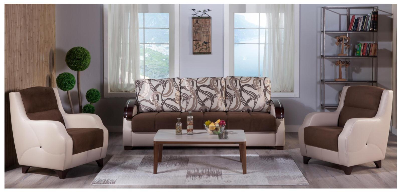 Costa Best Brown Sofa & 2 Chairs Setsunset Within Brown Sofa Chairs (Image 12 of 20)