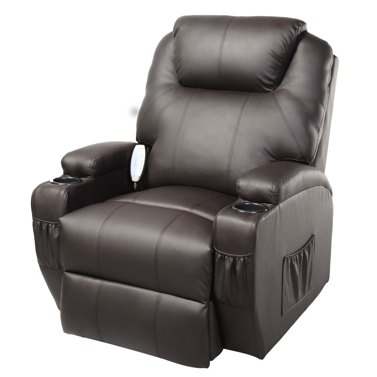 Costway Ergonomic Deluxe Massage Recliner Sofa Chair Lounge Inside Sofa Chair Recliner (Photo 1 of 20)