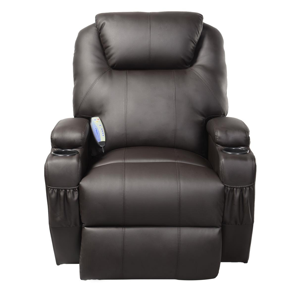 Costway Ergonomic Deluxe Massage Recliner Sofa Chair Lounge Regarding Sofa Chair Recliner (Image 8 of 20)