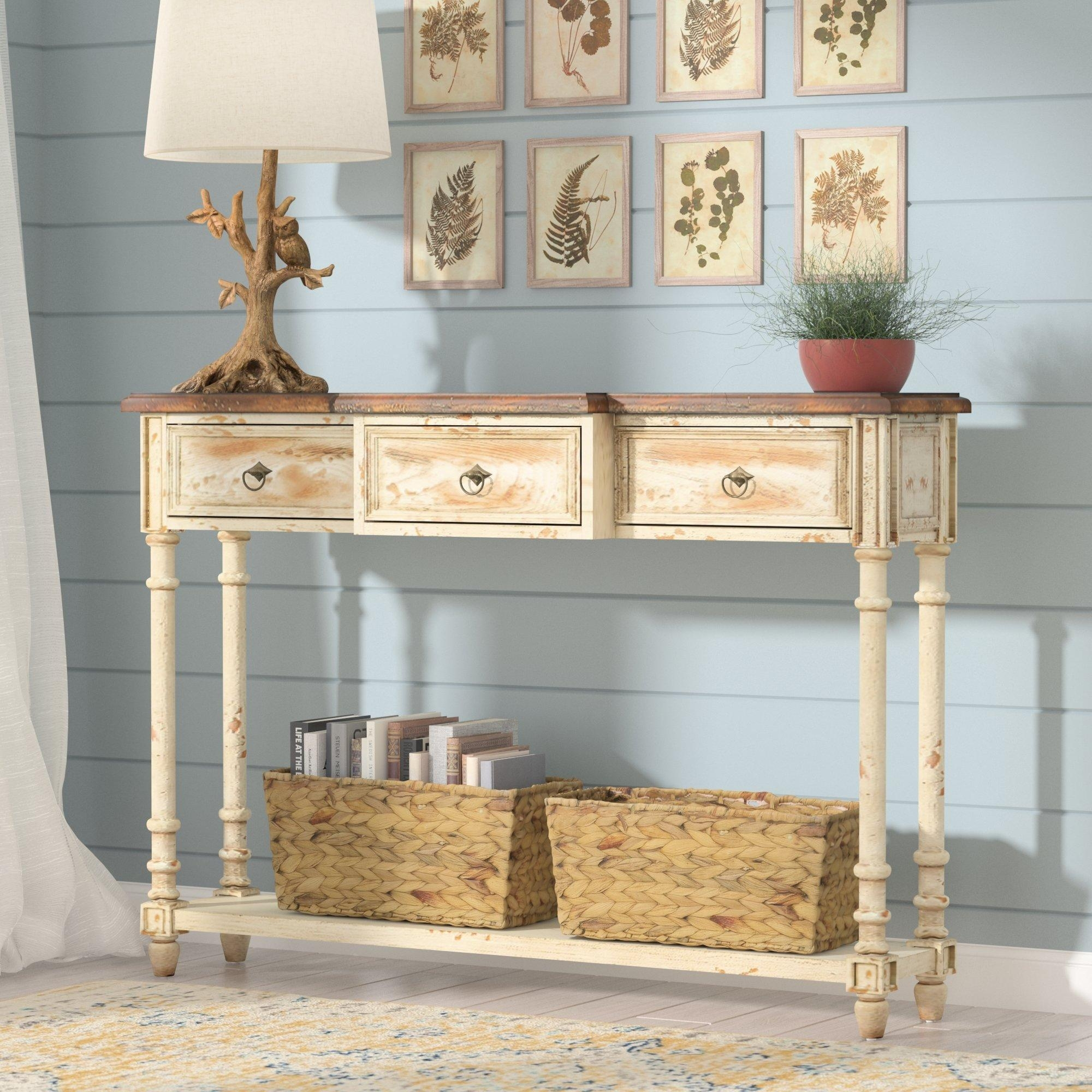 Cottage Sofa Table | Tehranmix Decoration Throughout Country Sofa Tables (Image 3 of 20)