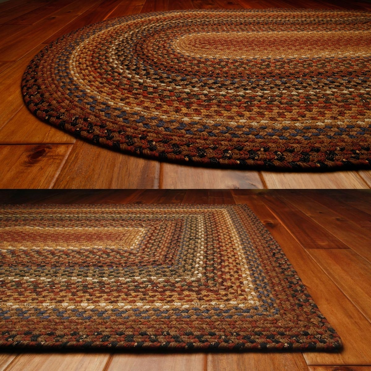 Cotton Braided Rugs: Primitive Home Decors Intended For Buy Braided Rugs For Less (Image 3 of 10)