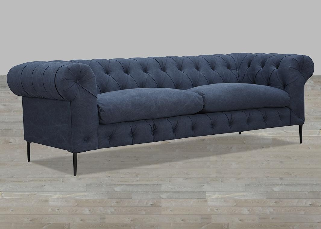 Cotton Polyester Blend Grey Sofa Within Blue Grey Sofas (Image 6 of 20)