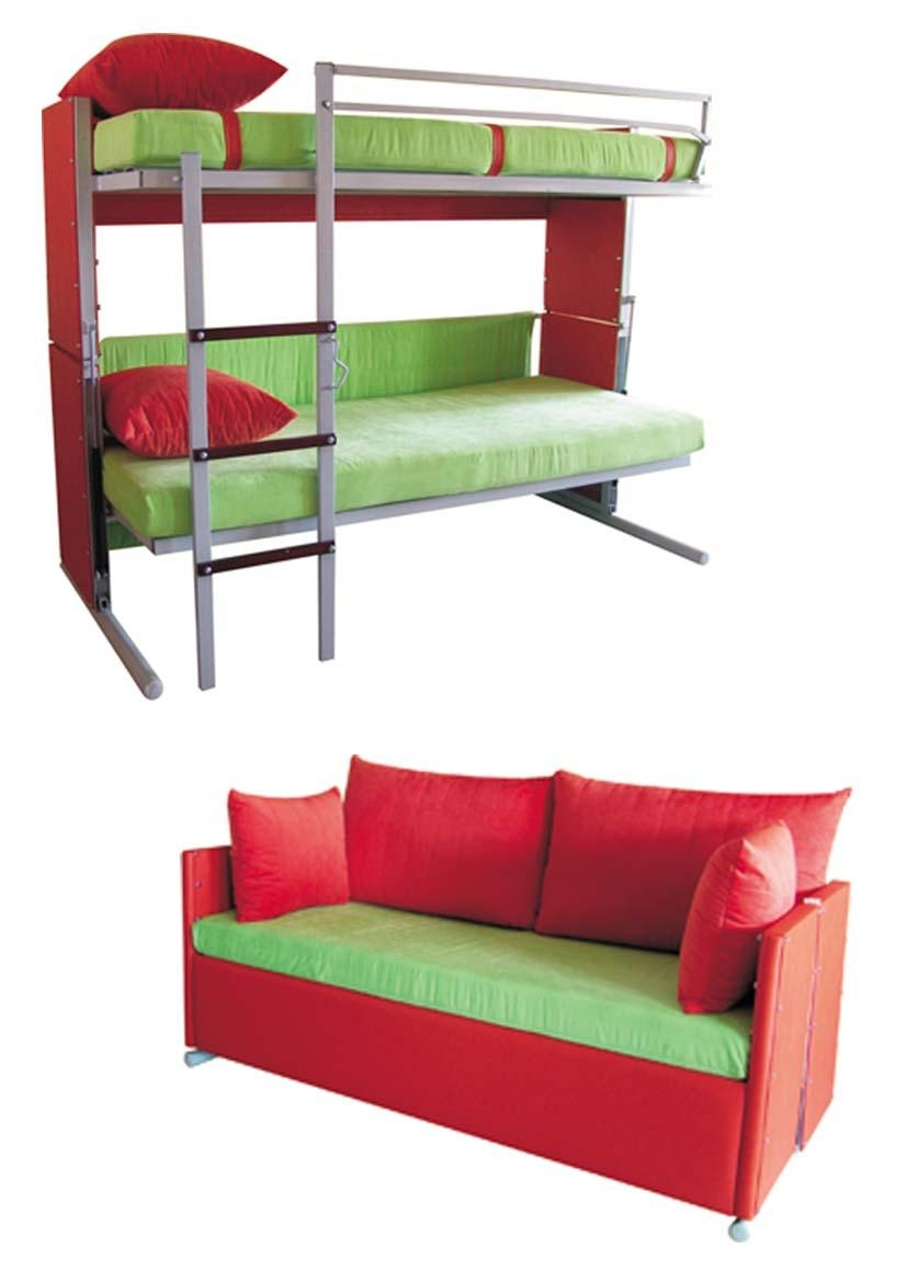 Couch That Turns Into Bunk Bed Furniture Intended For Sofa Bunk Beds (View 16 of 20)
