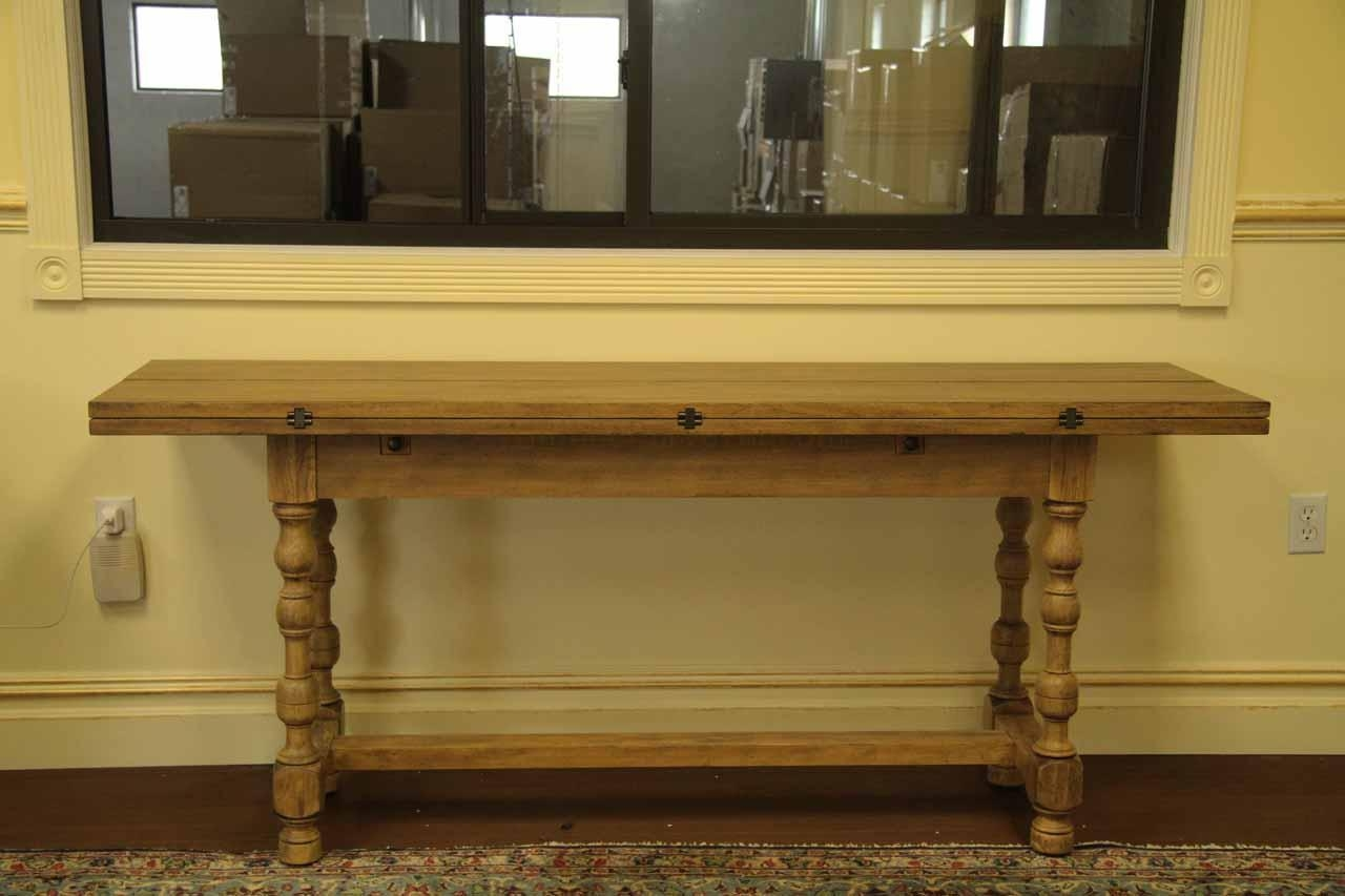 Country Flip Top Console Table, Folding Table Within Country Sofa Tables (View 7 of 20)