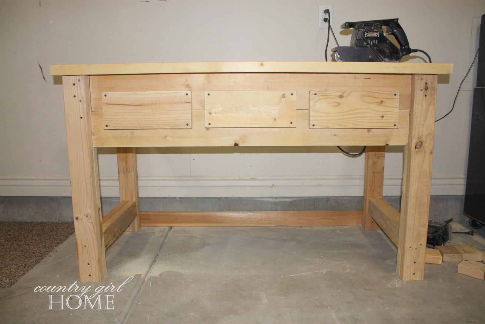 "Country Girl Home : My New ""hand Crafted"" Sofa Table In Country Sofa Tables (Image 5 of 20)"