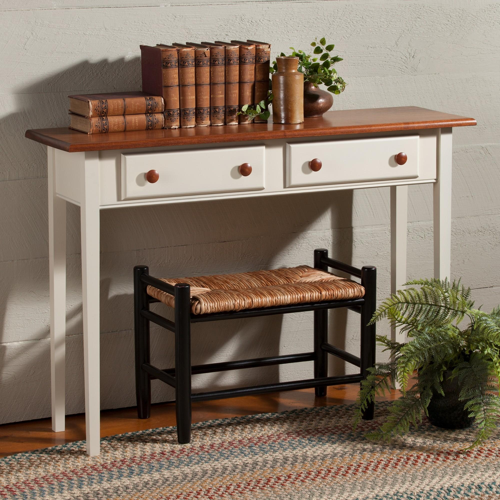 Country Shaker Sofa Hall Table | Sturbridge Yankee Workshop Throughout Shaker Sofas (Image 5 of 20)