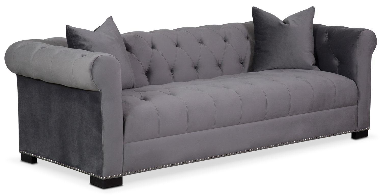 Couture Sofa – Gray | Value City Furniture Regarding Value City Sofas (Image 2 of 20)