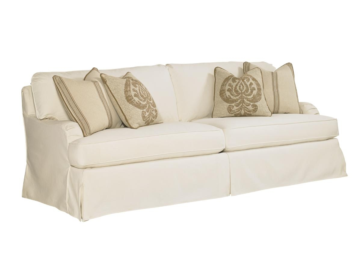 Coventry Hills Stowe Slipcover Sofa – Cream | Lexington Home Brands Inside Slip Covers For Love Seats (Image 1 of 20)