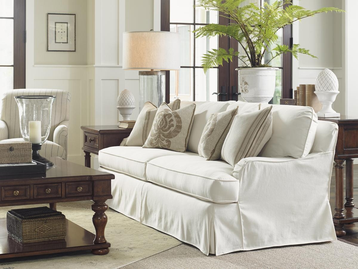 Coventry Hills Stowe Slipcover Sofa – Cream | Lexington Home Brands Intended For Slipcovers Sofas (Image 2 of 20)