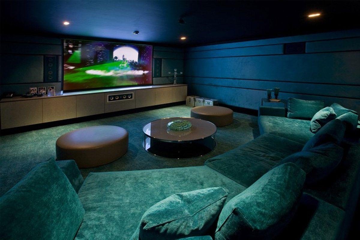 Cozy Black Sofa For Small Theater At Home – Techethe Within Theater Room Sofas (Image 4 of 20)