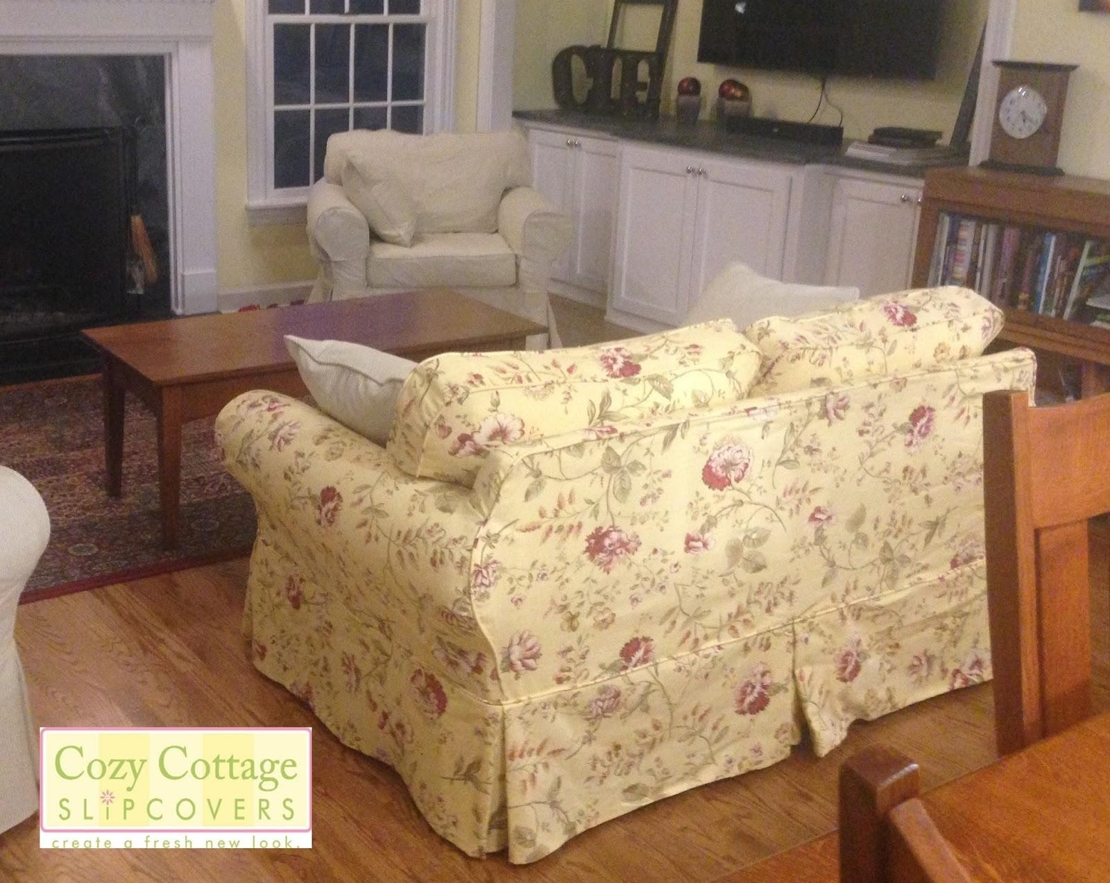 Cozy Cottage Slipcovers: Fresh Floral Slipcovers Throughout Floral Slipcovers (View 10 of 20)