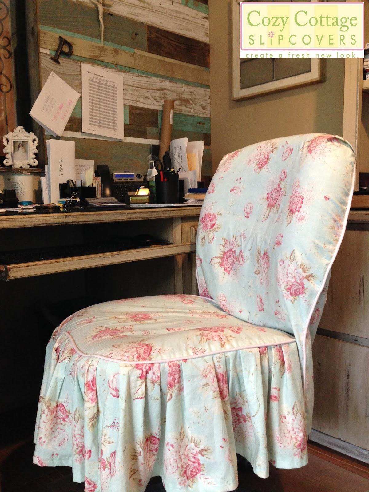 Cozy Cottage Slipcovers: Shabby Chic Texas Style In The Office Throughout Shabby Slipcovers (Image 3 of 20)