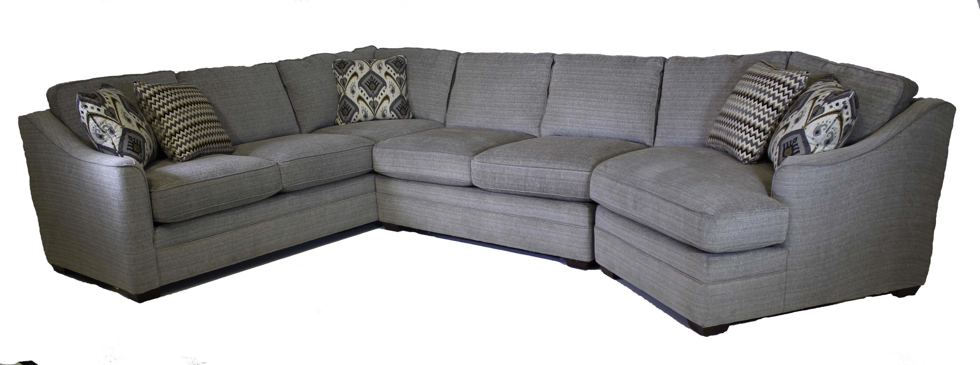 Craftmaster F9 Custom Collection Customizable 3 Piece Sectional Within Craftmaster Sectional (Image 6 of 15)