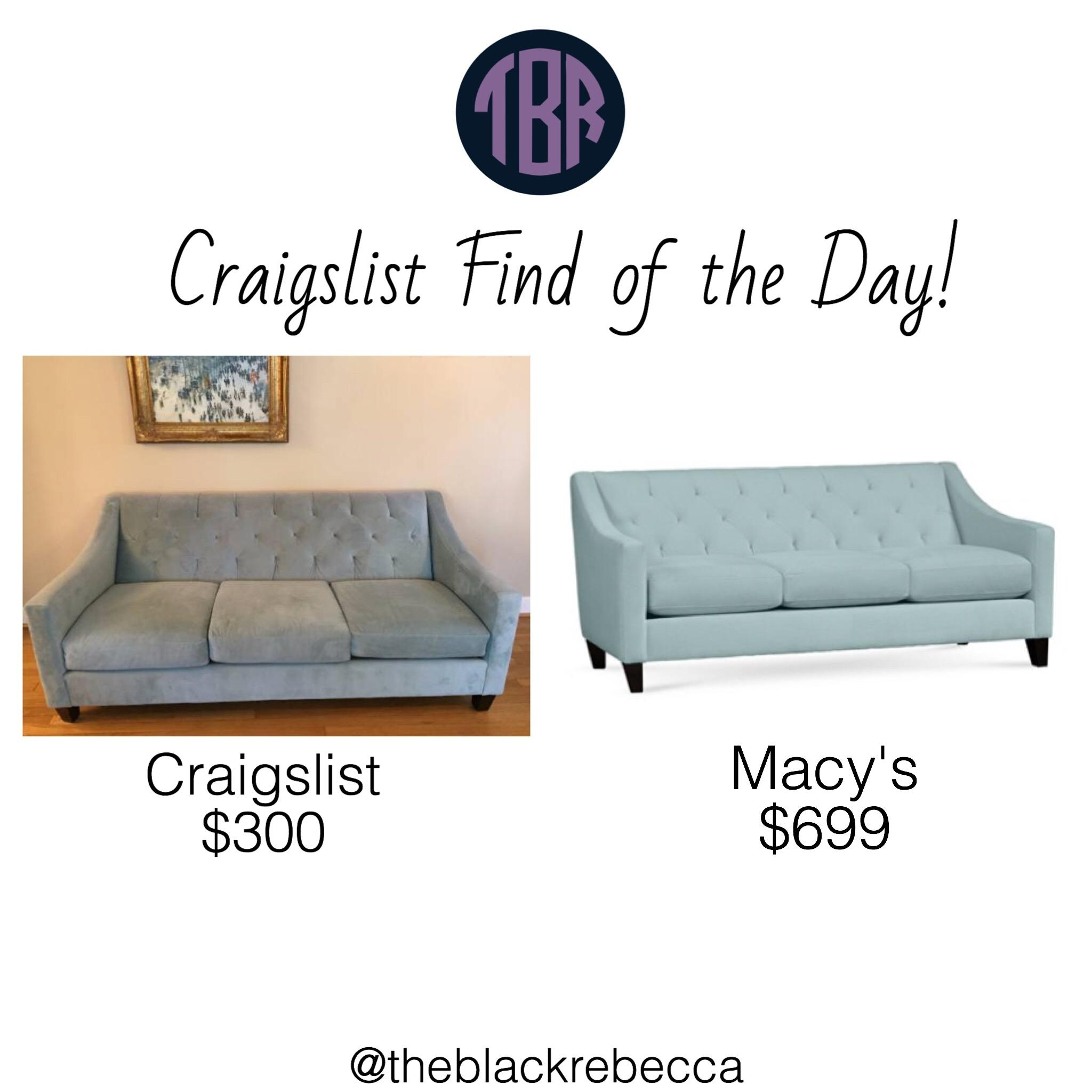 Craigslist Find Of The Day: Macy's Chloe Velvet Tufted Sofa – The Pertaining To Seafoam Sofas (View 15 of 20)