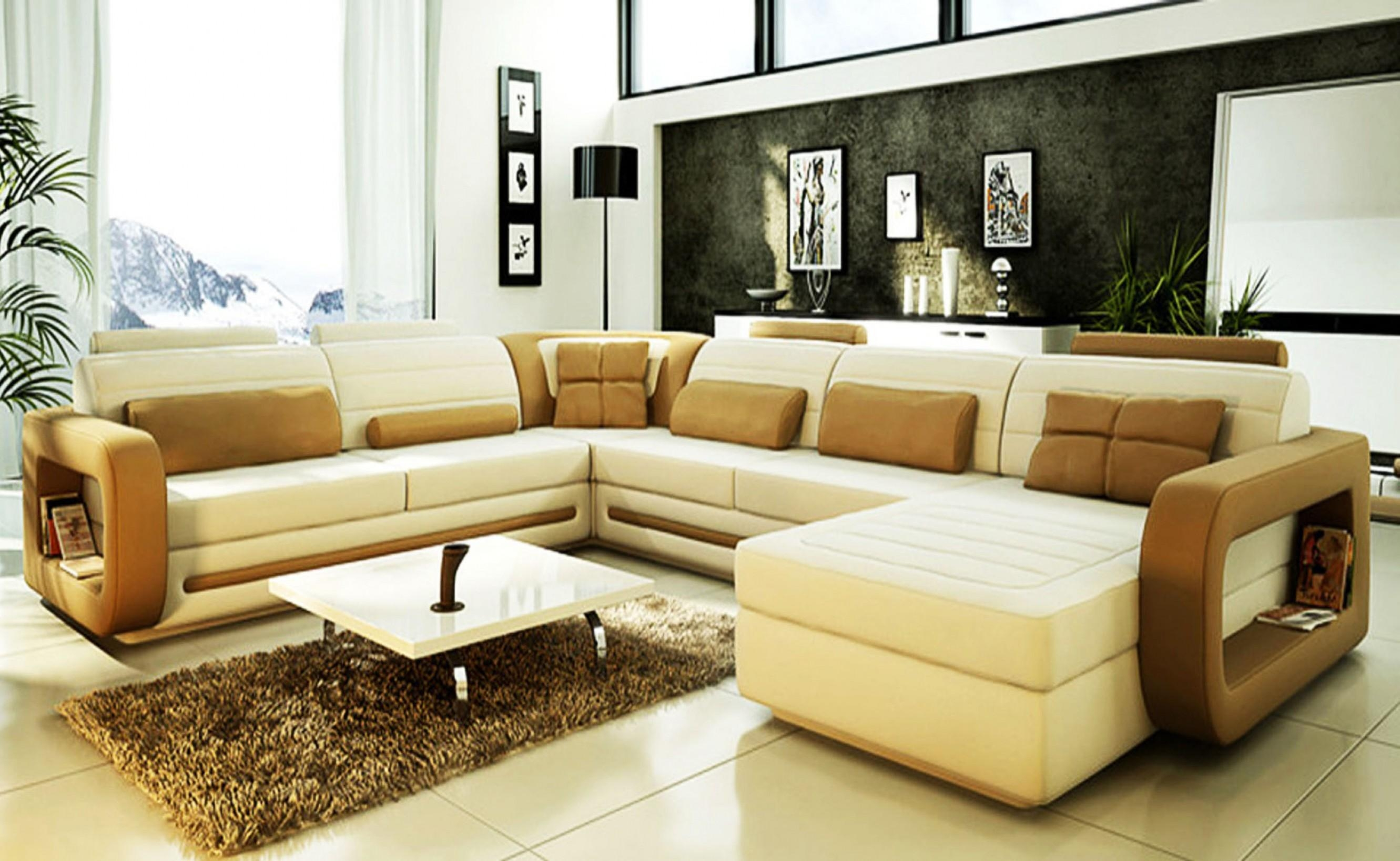 Cream Sectional Sofa (Image 4 of 20)
