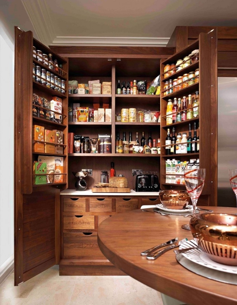 Pantry cabinets to utilize your kitchen custom home design - Bathroom pantry cabinets ...