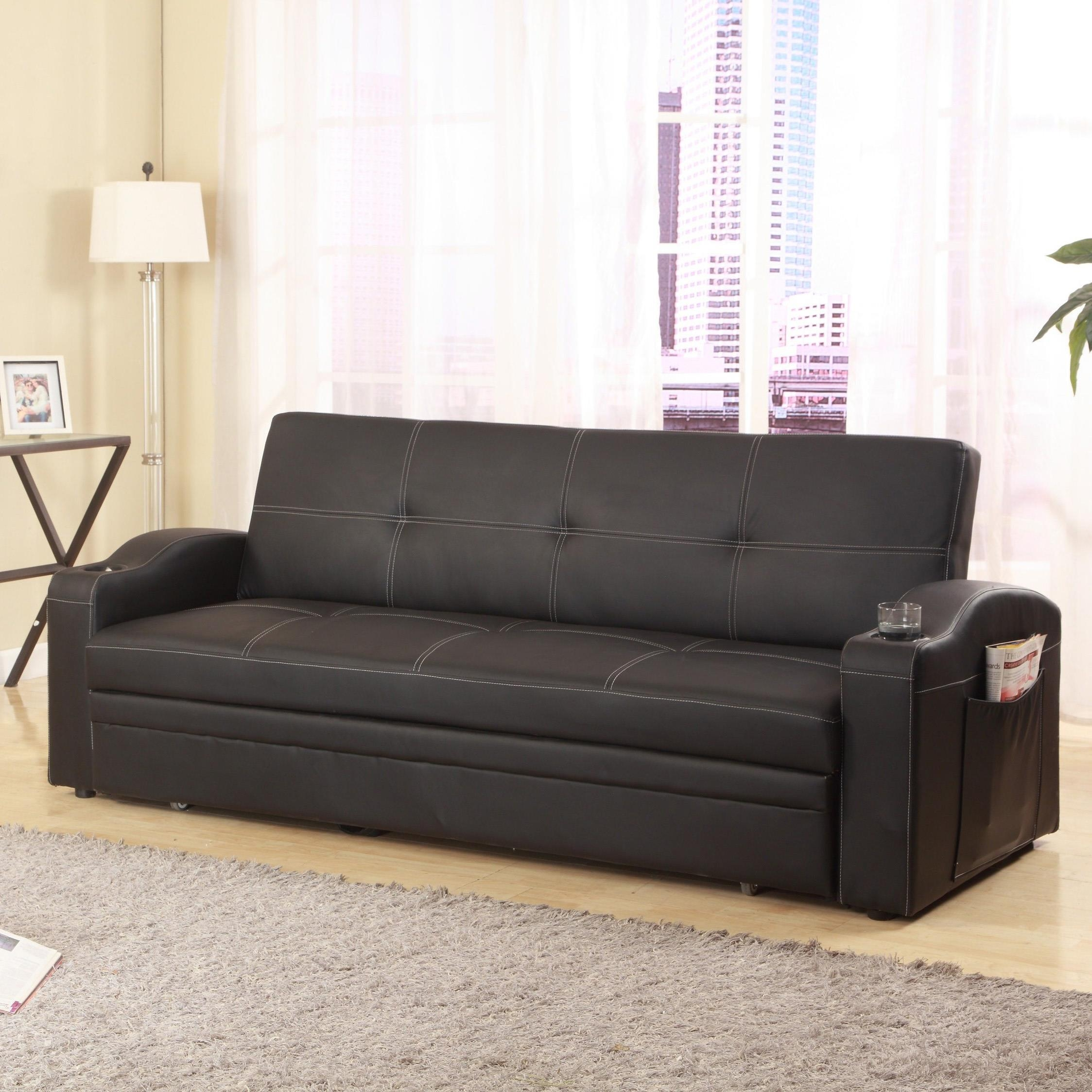 Crown Mark 5310 Easton Adjustable Sofa With Cup Holders And Pull In Sofas With Cup Holders (Image 3 of 20)